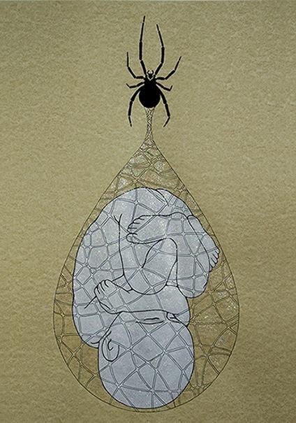 Il feto e il ragno
